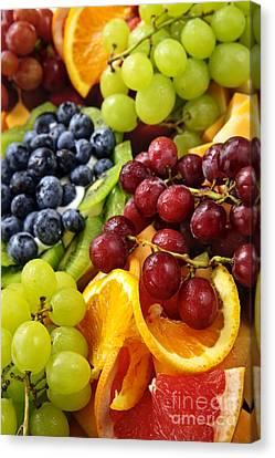 Fresh Fruits Canvas Print by Elena Elisseeva