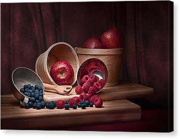 Fresh Fruits Still Life Canvas Print by Tom Mc Nemar