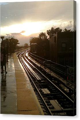Fresh Pond Rd Station Canvas Print by Mieczyslaw Rudek Mietko