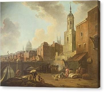 Fresh Wharf Near London Bridge, C.1762 Oil On Canvas Canvas Print by William Marlow