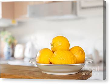 Freshly Picked Lemons Canvas Print by Amanda Elwell
