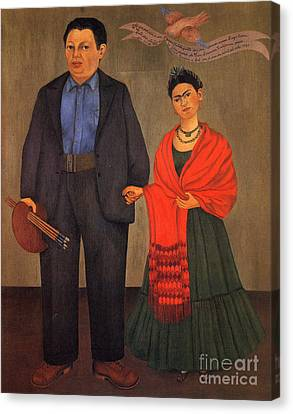 Frida Kahlo And Diego Rivera 1931 Canvas Print by Pg Reproductions