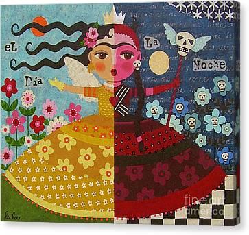 Frida Kahlo Angel Devil Queen Canvas Print by LuLu Mypinkturtle