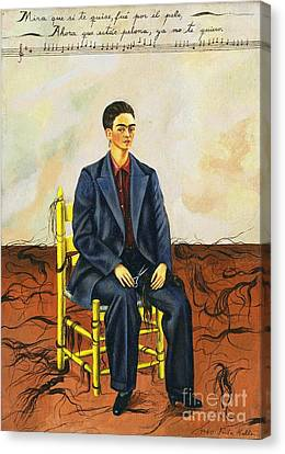 Frida Kahlo Self-portrait With Cropped Hair Autorretrato Con Pelo Cortado Canvas Print by Pg Reproductions