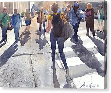 Friday Rush Canvas Print by Max Good