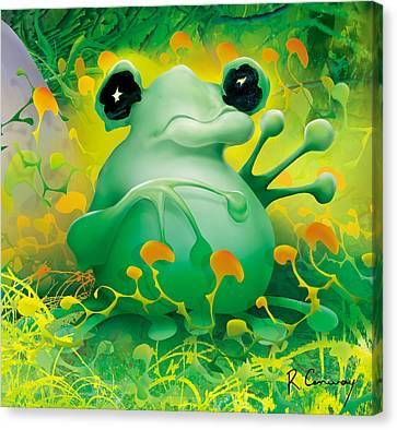 Friendly Frog Canvas Print by Robert Conway