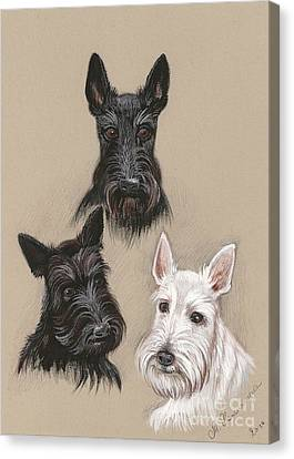 Friends Canvas Print by Margaryta Yermolayeva