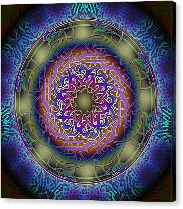 Friendship Mandala Canvas Print by Hannah Moesker
