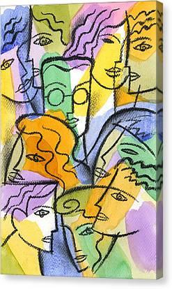 Friendship Canvas Print by Leon Zernitsky