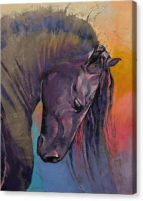 Friesian Canvas Print by Michael Creese