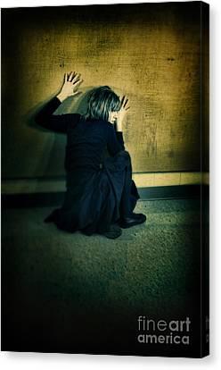 Frightened Woman Canvas Print by Jill Battaglia