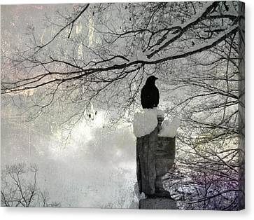 Frigid Canvas Print by Gothicolors Donna