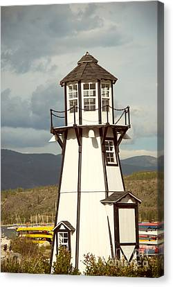 Frisco Bay Marina Lighthouse Canvas Print by Juli Scalzi