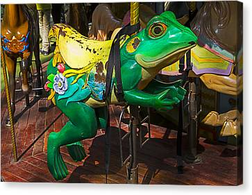 Frog Carrousel Ride Canvas Print by Garry Gay