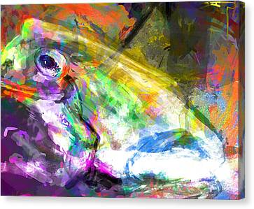 Frog Work Canvas Print by James Thomas