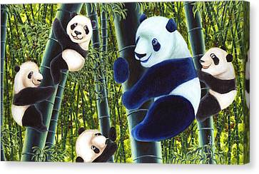 From Okin The Panda Illustration 1 Canvas Print by Hiroko Sakai