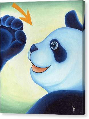 From Okin The Panda Illustration 12 Canvas Print by Hiroko Sakai