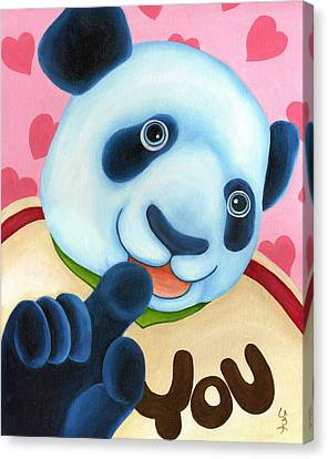 From Okin The Panda Illustration 16 Canvas Print by Hiroko Sakai