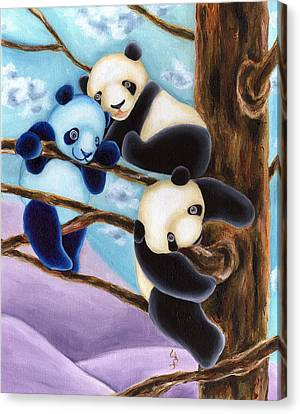 From Okin The Panda Illustration 4 Canvas Print by Hiroko Sakai