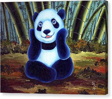 From Okin The Panda Illustration 6 Canvas Print by Hiroko Sakai