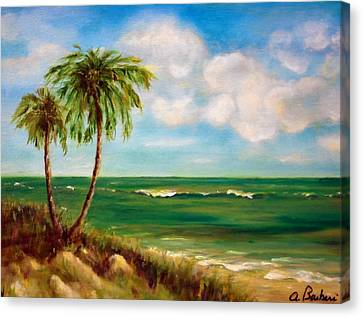 From The Beach Canvas Print by Anne Barberi