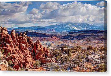 From The Fiery Furnace Canvas Print by Bob and Nancy Kendrick