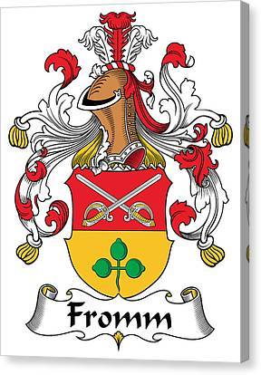 Fromm Coat Of Arms German Canvas Print by Heraldry