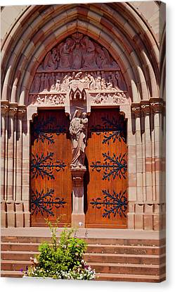 Front Door To Saint Pierre And Saint Canvas Print by Brian Jannsen