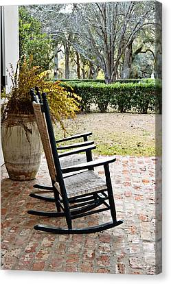 Front Porch Rockers Canvas Print by Scott Pellegrin