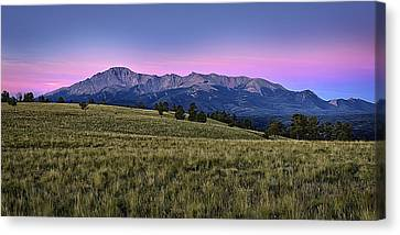 Front Range First Light Canvas Print by Thomas Zimmerman