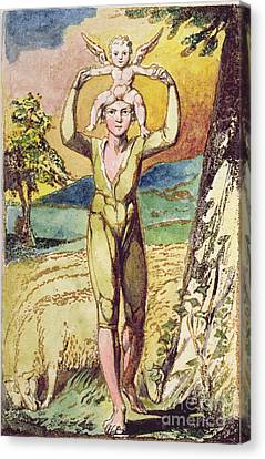 Frontispiece From Songs Of Innocence Canvas Print by William Blake