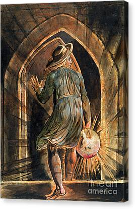 Frontispiece To Jerusalem Canvas Print by William Blake