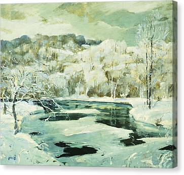 Frosted Trees Canvas Print by Jonas Lie