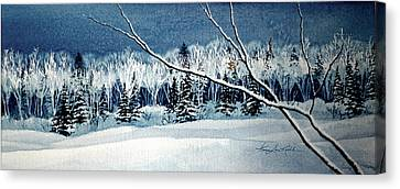Frosty Forest Valley Canvas Print by Hanne Lore Koehler