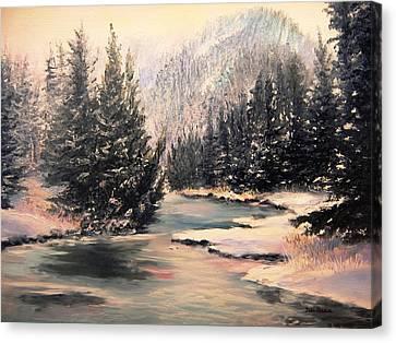 Frosty Morning Canvas Print by Patti Gordon
