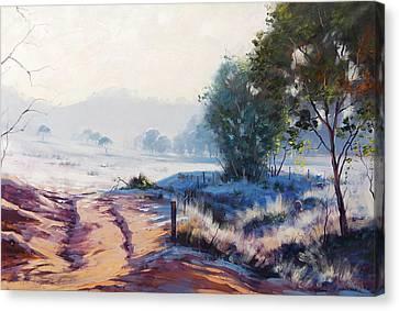 Frosty Winter Light Canvas Print by Graham Gercken