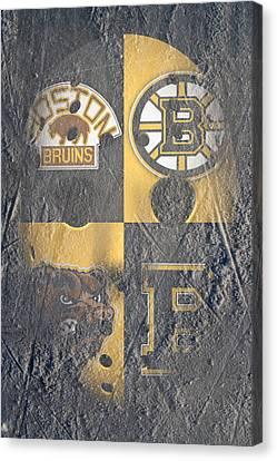 Frozen Bruins Canvas Print by Joe Hamilton