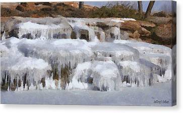 Frozen Falls Canvas Print by Jeff Kolker