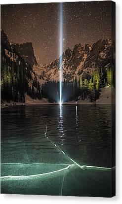 Frozen Illumination At Dream Lake Rmnp Canvas Print by Mike Berenson