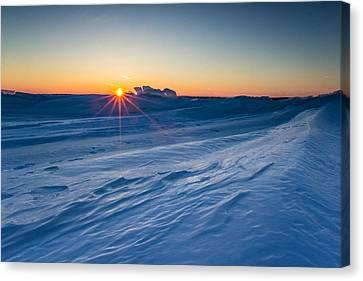 Frozen Lake Minnewaska Canvas Print by Aaron J Groen