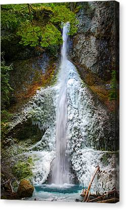 Frozen Marymere Falls Canvas Print by Inge Johnsson