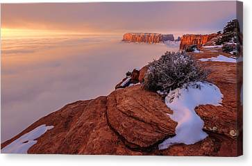 Frozen Mesa Canvas Print by Chad Dutson