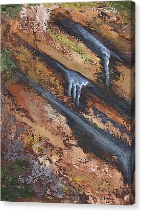 Frozen Seep Canvas Print by William Killen