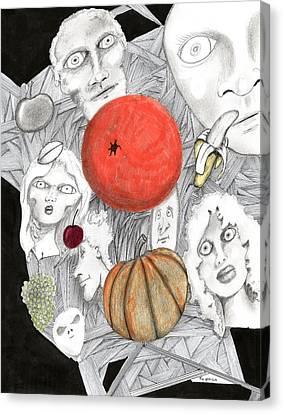 Fruit Afloat Canvas Print by Dan Twyman