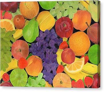 Fruit Canvas Print by Bav Patel