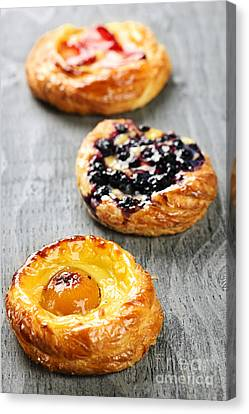 Fruit Danishes Canvas Print by Elena Elisseeva