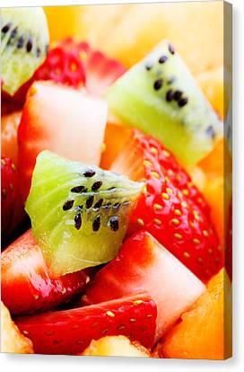 Fruit Salad Macro Canvas Print by Johan Swanepoel