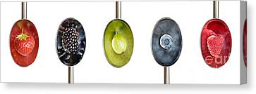 Fruit Spoons Canvas Print by Tim Gainey