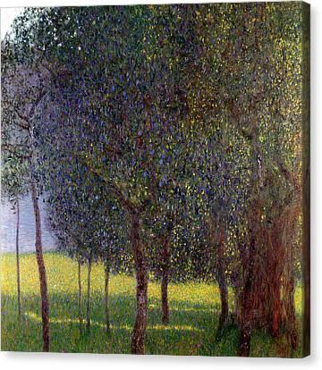 Fruit Trees Canvas Print by Gustav Klimt