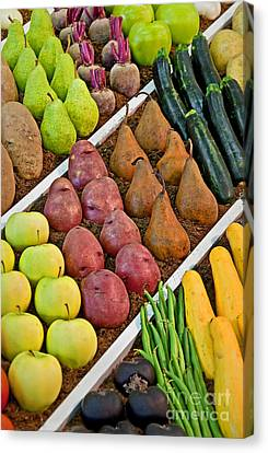 Fruits And Vegetables Diagonal  Canvas Print by Valerie Garner